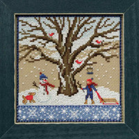 Winter Oak Cross Stitch Kit Mill Hill 2017 Mighty Oak Quartet MH171711