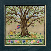 Spring Oak Cross Stitch Kit Mill Hill 2017 Mighty Oak Quartet MH171712