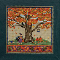 Fall Oak Cross Stitch Kit Mill Hill 2017 Mighty Oak Quartet MH171714