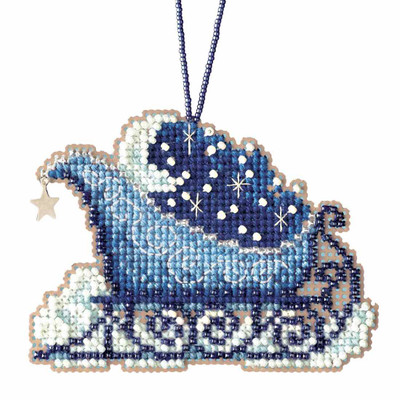 Celestial Sleigh Cross Stitch Kit Mill Hill 2017 Sleigh Ride MH161731