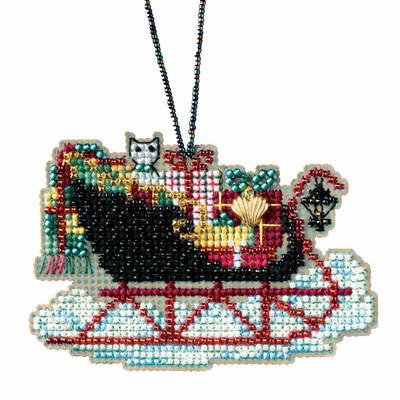 Vintage Sleigh Cross Stitch Kit Mill Hill 2017 Sleigh Ride MH161732