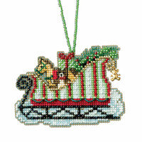 Toyland Sleigh Cross Stitch Kit Mill Hill 2017 Sleigh Ride MH161733