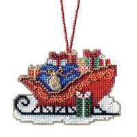 Traditional Sleigh Cross Stitch Kit Mill Hill 2017 Sleigh Ride MH161736