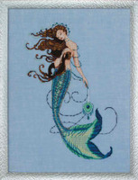 Renaissance Mermaid Kit Cross Stitch Chart, Fabric, Beads, Braid, Silk Floss MD151 Mirabilia Designs