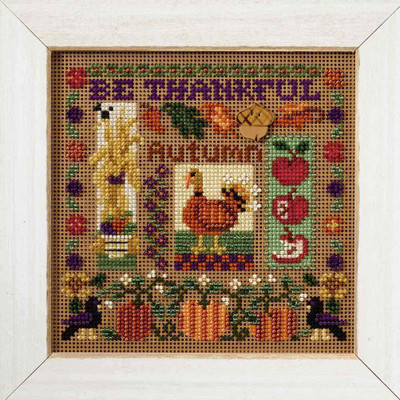 Be Thankful Cross Stitch Kit Mill Hill 2007 Buttons & Beads Autumn