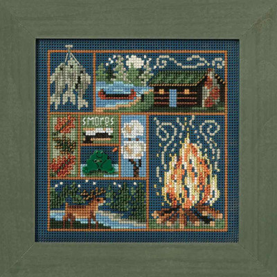 Cabin Fever Cross Stitch Kit Mill Hill 2010 Buttons & Beads Autumn