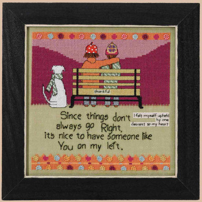 On My Left Beaded Cross Stitch Kit Curly Girl 2017 Mill Hill CG301712