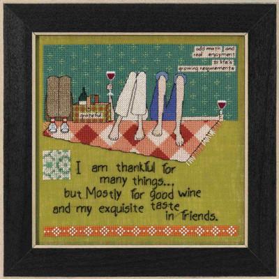 Taste in Friends Beaded Cross Stitch Kit Curly Girl 2017 Mill Hill CG301713
