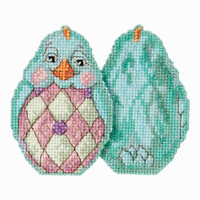 Aqua Chick Counted Cross Stitch Easter Kit Mill Hill 2017 Jim Shore JS181714
