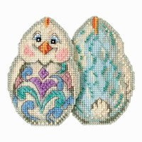 White Chick Counted Cross Stitch Easter Kit Mill Hill 2017 Jim Shore JS181713