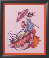 Miss Cherry Blossom Kit Cross Stitch Chart Fabric Beads Braid Mirabilia MD153