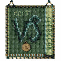 Capricorn Cross Stitch Kit Mill Hill 2018 Zodiac Ornaments MH161824