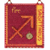 Sagittarius Cross Stitch Kit Mill Hill 2018 Zodiac Ornaments MH161823