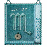 Scorpio Cross Stitch Kit Mill Hill 2018 Zodiac Ornaments MH161822