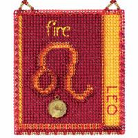 Leo Cross Stitch Kit Mill Hill 2018 Zodiac Ornaments MH161815