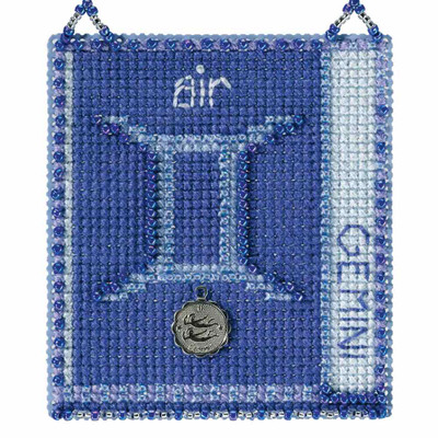 Gemini Cross Stitch Kit Mill Hill 2018 Zodiac Ornaments MH161813