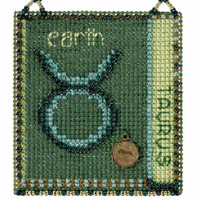 Taurus Cross Stitch Kit Mill Hill 2018 Zodiac Ornaments MH161812