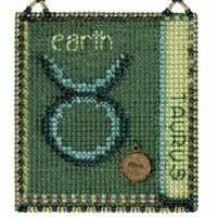 Taurus Cross Stitch Kit Mill Hill 2018 Zodiac Ornaments MH161812