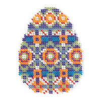 Mosaic Egg Beaded Cross Stitch Kit Mill Hill 2018 Spring Bouquet MH181815