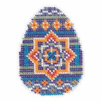 Medallion Egg Beaded Cross Stitch Kit Mill Hill 2018 Spring Bouquet MH181812