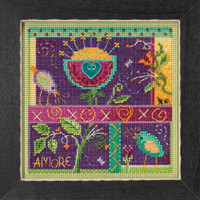 That's Amore Cross Stitch Kit Mill Hill 2018 Buttons & Beads Spring MH141814