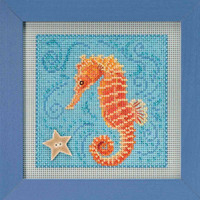 Seahorse Cross Stitch Kit Mill Hill 2018 Buttons & Beads Spring MH141813