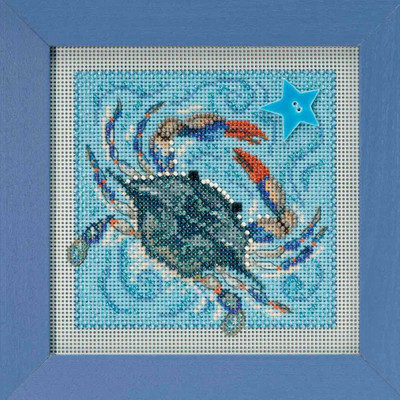 Crab Cross Stitch Kit Mill Hill 2018 Buttons & Beads Spring MH141811