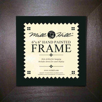 Chocolate Solid Color Hand Painted Mill Hill 6 x 6 Wooden Frame GBFRM4