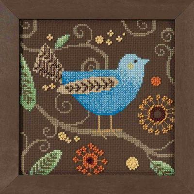 Blue Bird Cross Stitch Kit Mill Hill 2018 Debbie Mumm Out On A Limb DM301811