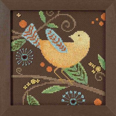 Yellow Bird Cross Stitch Kit Mill Hill 2018 Debbie Mumm Out On A Limb DM301812