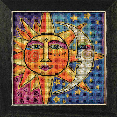 Sister Sun Brother Moon Cross Stitch Kit Mill Hill 2018 Laurel Burch Celestial LB141811