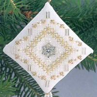 Crystal Snowflake Tiny Treasured Diamond Ornament Kit 1996 Mill Hill