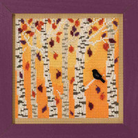 Autumn Woods Cross Stitch Kit Mill Hill 2018 Buttons & Beads Autumn MH141823