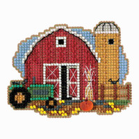 Harvest Barn Bead Cross Stitch Kit Mill Hill 2018 Autumn Harvest MH181821