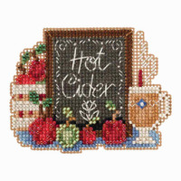 Hot Cider Bead Cross Stitch Kit Mill Hill 2018 Autumn Harvest MH181826