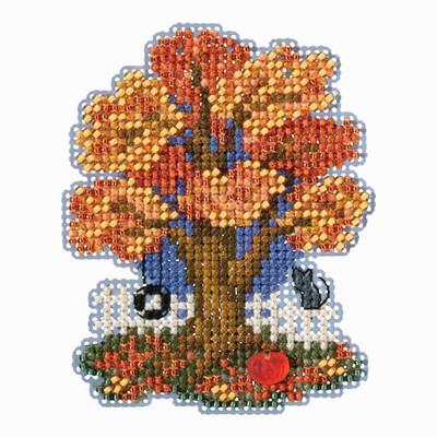 Fall Tree Bead Cross Stitch Kit Mill Hill 2018 Autumn Harvest MH181824