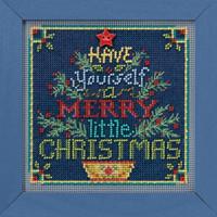 Merry Little Christmas Cross Stitch Kit Mill Hill 2018 Buttons Beads Winter MH141831