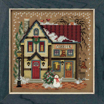 Cobbler Cross Stitch Kit Mill Hill 2018 Buttons Beads Winter MH141836