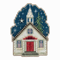 Sunday Night Cross Stitch Ornament Kit Mill Hill 2018 Winter Holiday MH181834
