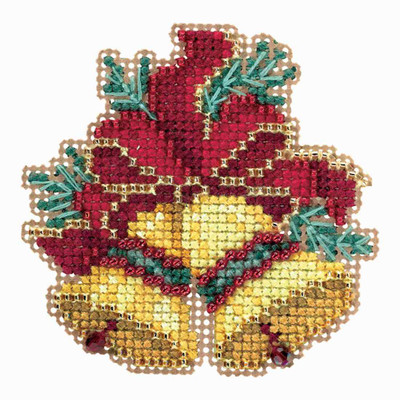 Christmas Bells Cross Stitch Ornament Kit Mill Hill 2018 Winter Holiday MH181835