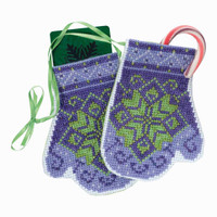 Star Mittens Beaded Cross Stitch Ornament Kit Mill Hill 2018 Mittens Trilogy MH191833