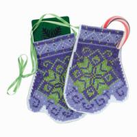 Star Mittens Beaded Cross Stitch Ornament Kit Mill Hill 2018 Mittens Trilogy MH191833