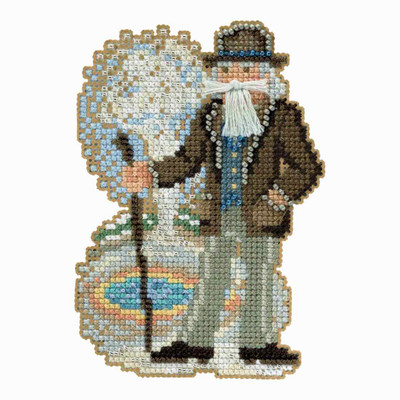 Yellowstone Santa Cross Stitch Kit Mill Hill 2018 National Park Santas MH201831