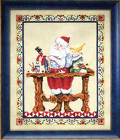 Santa's Workshop Kit Cross Stitch Chart Fabric Beads Jim Shore JSP0001E