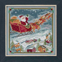 To All A Goodnight Cross Stitch Kit Mill Hill 2018 A Visit From St Nick Quartet MH171834