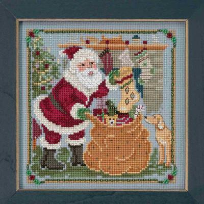 Jolly Old Elf Cross Stitch Kit Mill Hill 2018 A Visit From St Nick Quartet MH171833