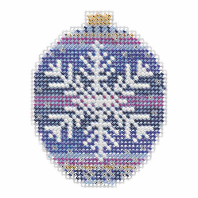 Royal Snowflake Beaded Cross Stitch Ornament Kit Mill Hill 2018 Beaded Holiday MH211812