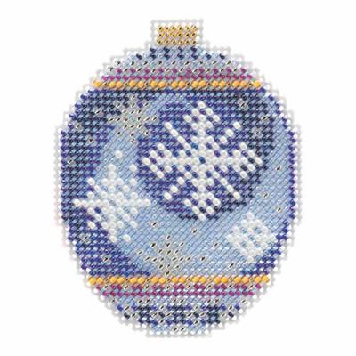 Midnight Snowfall Beaded Cross Stitch Ornament Kit Mill Hill 2018 Beaded Holiday MH211815
