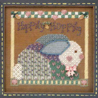 Hippity Hoppity Cross Stitch Kit Mill Hill 1998 Buttons & Beads Spring
