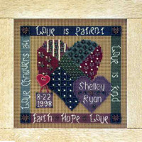 Celebration of Love Cross Stitch Kit Mill Hill 1998 Buttons & Beads